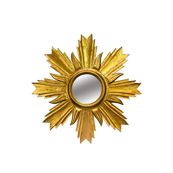 Espejo sol en dorado ideas marbella - Espejo sol dorado ...